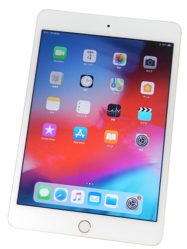 【Apple】【docomoのみ】アップル『iPad mini 4 Wi-Fi + Cellular 16GB』MK712J/A ゴールド iOS12.1.1 7.9型 ○判定 タブレット型端末 1週間保証【中古】b03e/h06B