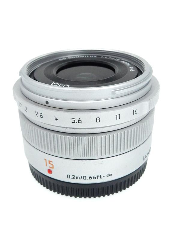【Panasonic】パナソニック『LEICA DG SUMMILUX 15mm F1.7 ASPH.』 H-X015-S シルバー レンズ 1週間保証【中古】b02e/h21AB