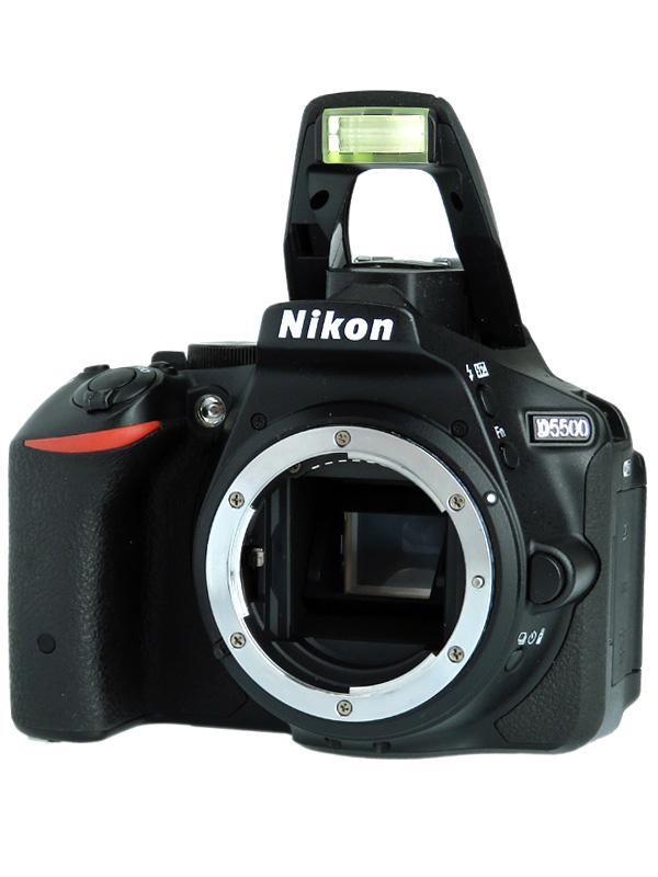 【Nikon】ニコン『D5500ボディ』ブラック 2416万画素 DXフォーマット デジタル一眼レフカメラ 1週間保証【中古】b02e/h03AB