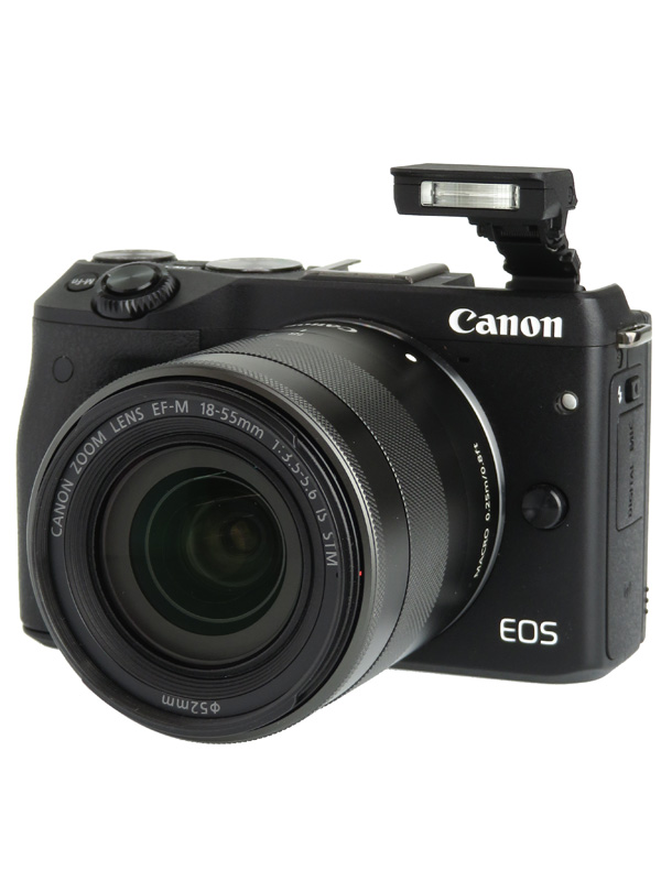 【Canon】キヤノン『EOS M3 EF-M18-55 F3.5-5.6 IS STM レンズキット』ブラック ミラーレス一眼カメラ 1週間保証【中古】b02e/h03AB