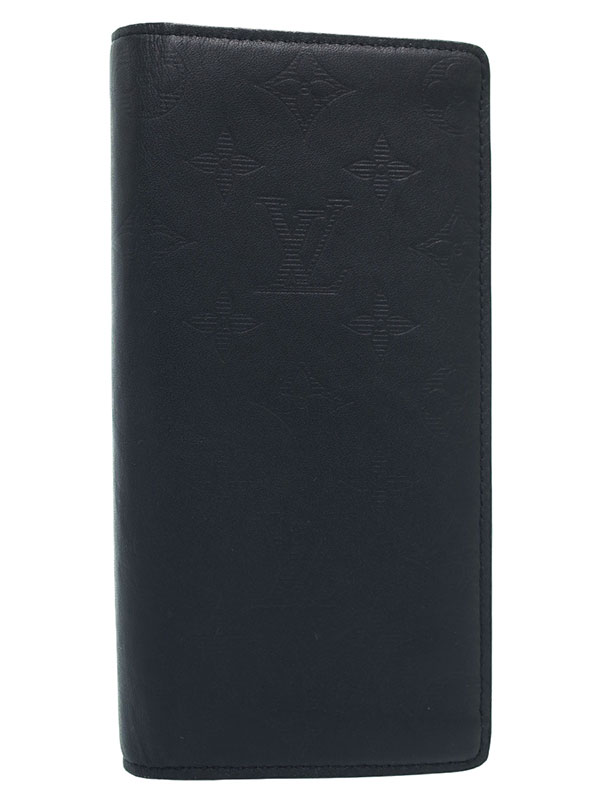 【LOUIS VUITTON】ルイヴィトン『モノグラム シャドウ ポルトフォイユ ブラザ』M62900 メンズ 二つ折り長財布 1週間保証【中古】b03b/h15A