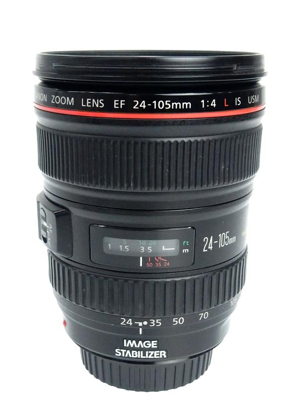 【Canon】【フルサイズ対応】キヤノン『EF24-105mm F4L IS USM』EF24-10540LIS 防塵・防滴 非球面 標準ズーム 一眼レフカメラ用レンズ 1週間保証【中古】b02e/h04AB