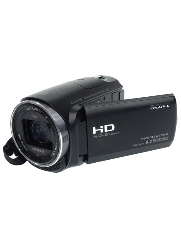 【SONY】ソニー『ハンディカム』HDR-CX670(B) ブラック 32GB 光学30倍 Wi-Fi NFC デジタルビデオカメラ 1週間保証【中古】b02e/h13AB