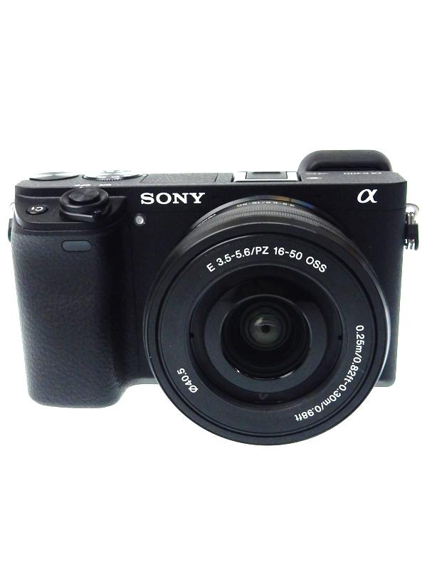【SONY】ソニー『α6300 レンズキット』ILCE-6300L ブラック 2420万画素 APS-Cサイズ Eマウント 4K動画 SDXC ミラーレス一眼カメラ 1週間保証【中古】b02e/h04AB