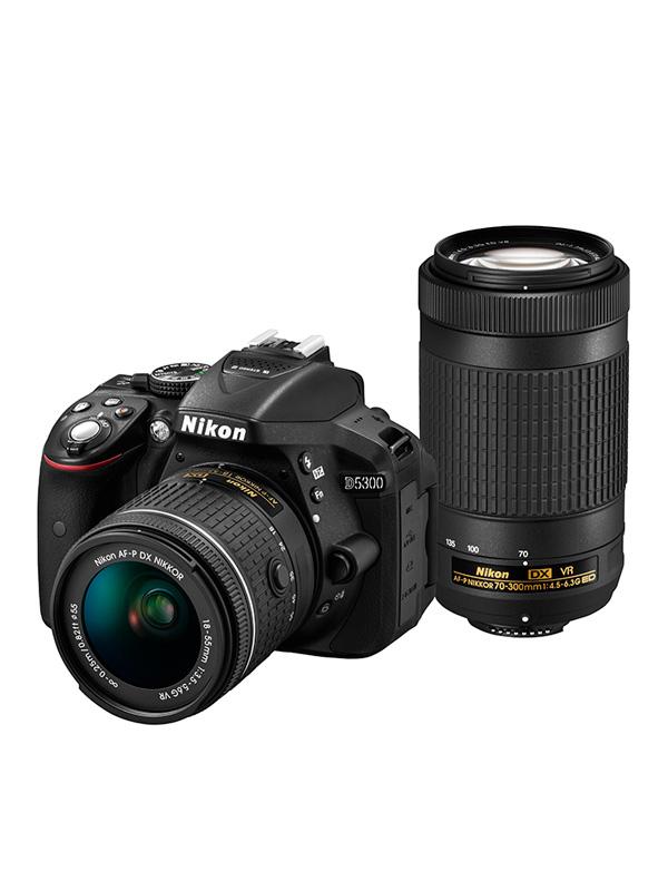 【Nikon】ニコン『AF-P D5300 ダブルズームキット 18-55VR 70-300VR』D5300WZ3 2416万画素 デジタル一眼レフカメラ 1週間保証【新品】b00e/b00N