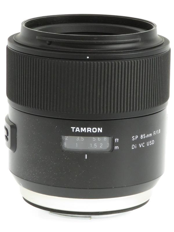 【TAMRON】タムロン『SP 85mm F/1.8 Di VC USD』F016E キヤノンEFマウント デジタル一眼レフカメラ用レンズ 1週間保証【中古】b02e/h12B