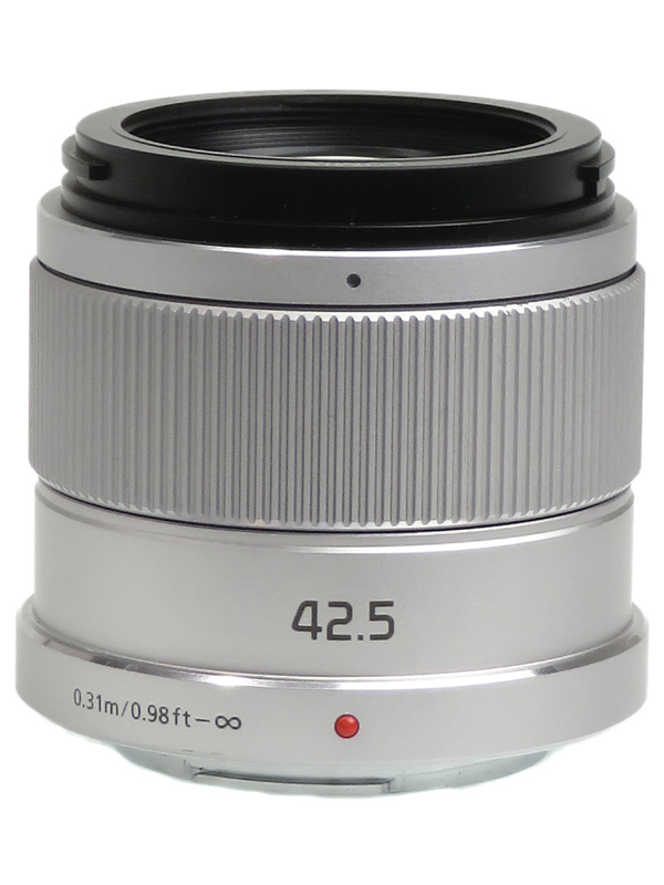 【Panasonic】パナソニック『LUMIX G 42.5mm F1.7 ASPH. POWER O.I.S.』H-HS043-S 85mm相当 シルバー ミラーレス一眼カメラ用レンズ 1週間保証【中古】b02e/h21AB