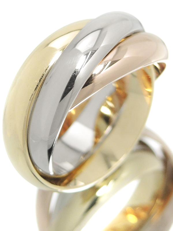 【Cartier】【スリーカラーゴールド】カルティエ『K18YG/K18PG/K18WG トリニティ リング』11号 1週間保証【中古】b02j/h07A