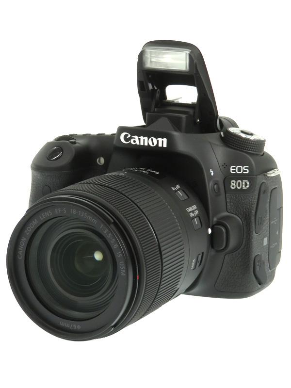 【Canon】キヤノン『EOS 80D EF-S18-135 IS USMレンズキット』2420万画素 SDXC デジタル一眼レフカメラ 1週間保証【中古】b03e/h07A
