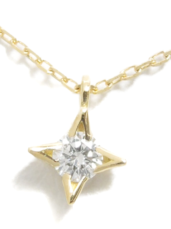 【AHKAH】【vivian couture】アーカー『ヴィヴィアンクチュール ノーブルシリウス ネックレス K18YG ダイヤモンド0.06ct』1週間保証【中古】b03j/h15A