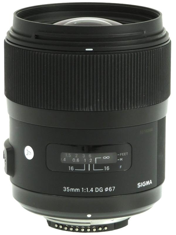 【SIGMA】シグマ『35mm F1.4 DG HSM』ニコンFマウント Artライン デジタル一眼レフカメラ用レンズ 1週間保証【中古】b03e/h08B