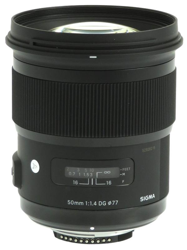【SIGMA】シグマ『50mm F1.4 DG HSM』ニコンFマウント Artライン デジタル一眼レフカメラ用レンズ 1週間保証【中古】b03e/h08B