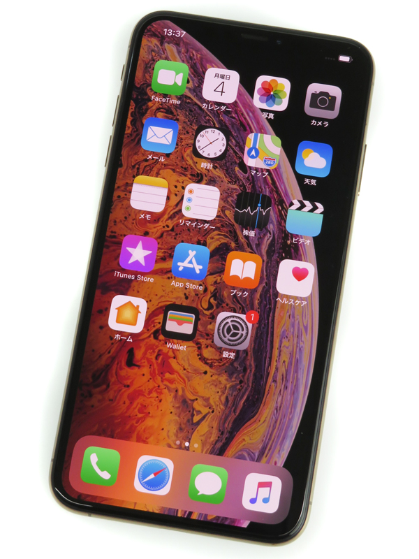 【Apple】【auのみ】アップル『iPhoneXs Max 64GB ゴールド au』MT6T2J/A スマートフォン 1週間保証【中古】b06e/h16AB