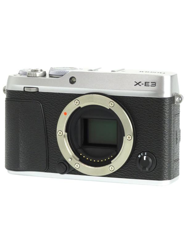 【FUJIFILM】富士フイルム『X-E3 ボディ』F X-E3-S シルバー 2430万画素 SDXC APS-C ミラーレス一眼カメラ 1週間保証【中古】b02e/h19AB