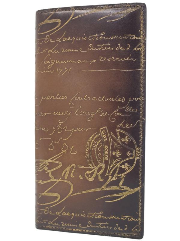 【Berluti】ベルルッティ『SANTAL 二つ折り長財布』メンズ 1週間保証【中古】b03b/h20AB