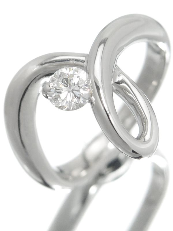 【星の砂】ホシノスナ『PT900リング 1Pダイヤモンド0.24ct』8号相当 1週間保証【中古】b03j/h11A
