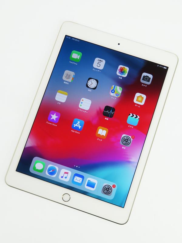 【Apple】【auのみ】アップル『iPad Air2 Wi-Fi+Cellularモデル 16GB au』NH1C2J/A タブレット 1週間保証【中古】b05e/h12AB