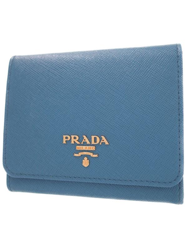【PRADA】プラダ『三つ折り短財布』1MH176 レディース 1週間保証【中古】b06b/h17A