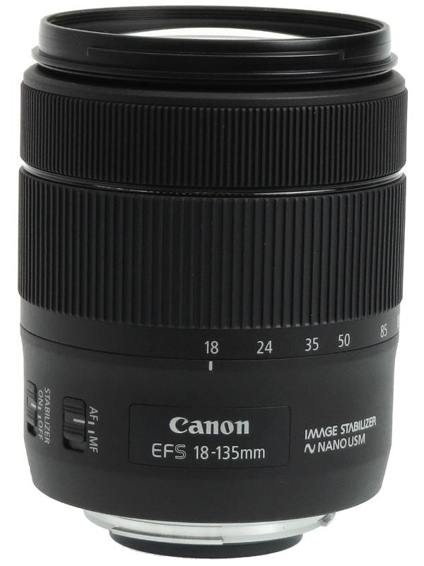 【Canon】キヤノン『EF-S18-135mm F3.5-5.6 IS USM』EF-S18-135ISUSM 29-216mm相当 デジタル一眼レフカメラ用レンズ 1週間保証【中古】b02e/h22A