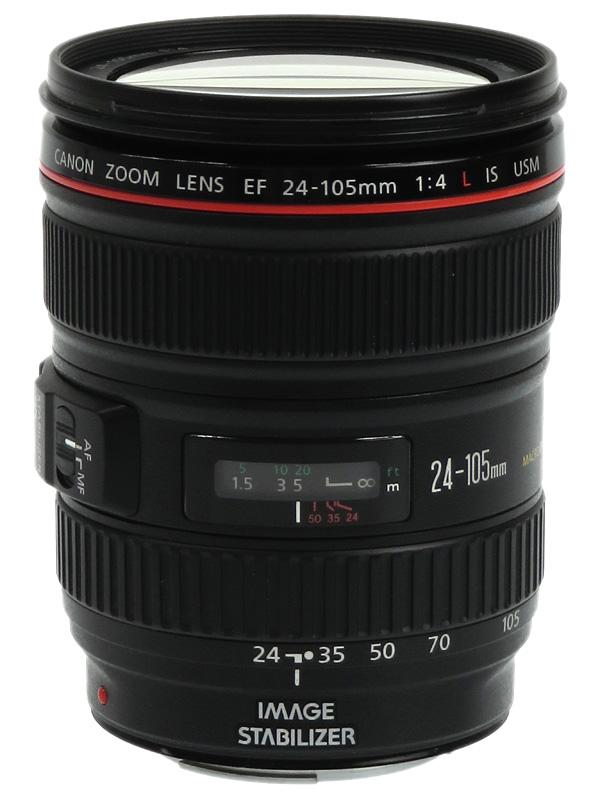 【Canon】キヤノン『EF24-105mm F4L IS USM』EF24-10540LIS 非球面 標準ズーム 一眼レフカメラ用レンズ 1週間保証【中古】b03e/h06B