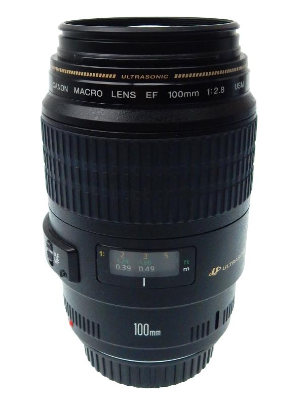 【Canon】キヤノン『EF100mm F2.8 マクロ USM』EF10028MU 中望遠マクロレンズ インナーフォーカス レンズ 1週間保証【中古】b02e/h09AB