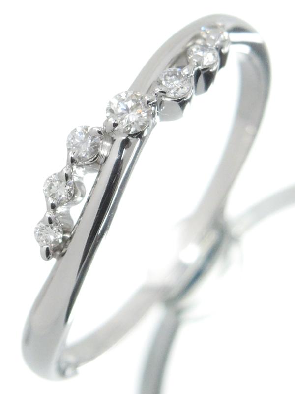 【StarJewelry】【仕上済】スタージュエリー『K18WGリング ダイヤモンド0.10ct』12号 1週間保証【中古】b01j/h02SA