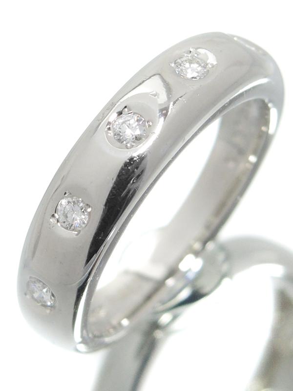 【MIKIMOTO】ミキモト『PT950リング 5Pダイヤモンド0.11ct』10号 1週間保証【中古】b03j/h01A