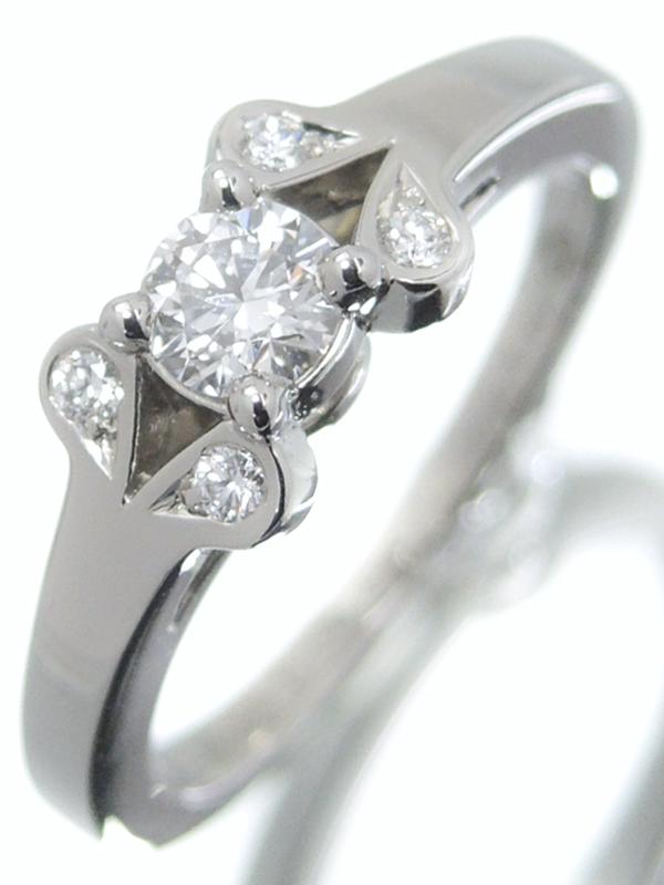 【Cartier】【BALLERINE】カルティエ『PT950 バレリーナ ソリテール リング ダイヤモンド0.19ct』5.5号 1週間保証【中古】b01j/h08A