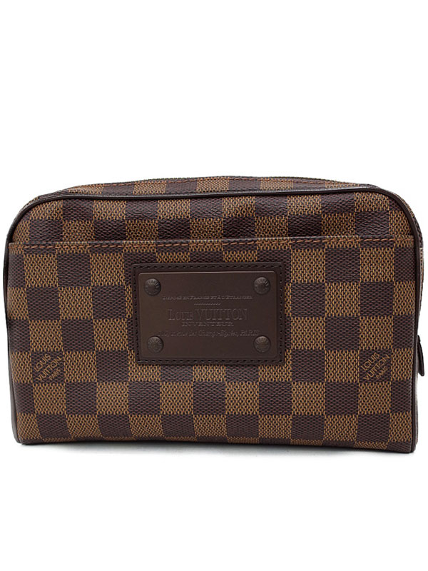 【LOUIS VUITTON】ルイヴィトン『ダミエ バム バッグ ブルックリン』N41101 メンズ ボディバッグ 1週間保証【中古】b05b/h10A