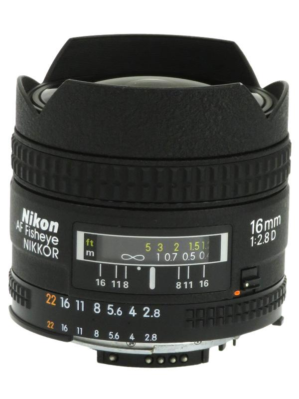 【Nikon】ニコン『AI AF Fisheye-Nikkor 16mm f/2.8D』FXフォーマット 魚眼 一眼レフカメラ用レンズ 1週間保証【中古】b03e/h14AB