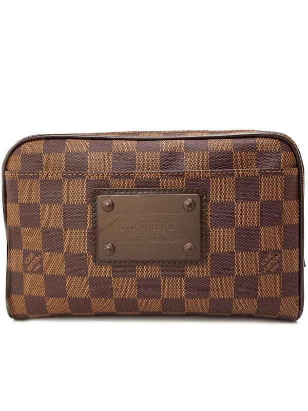 【LOUIS VUITTON】ルイヴィトン『ダミエ バム バッグ ブルックリン』N41101 メンズ ボディバッグ 1週間保証【中古】b01b/h02A