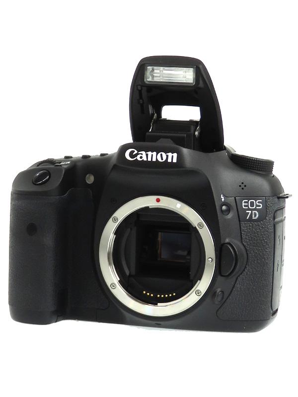 【Canon】キヤノン『EOS 7Dボディー』EOS7DBODY APS-C 1800万画素 フルHD動画 CFカード デジタル一眼レフカメラ 1週間保証【中古】b02e/h02AB