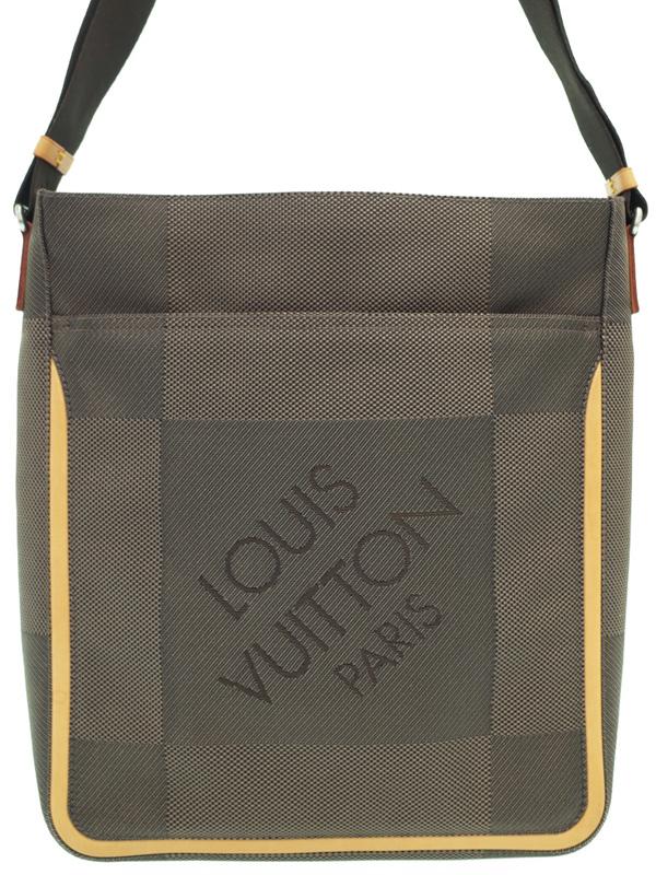 【LOUIS VUITTON】ルイヴィトン『ダミエ ジェアン コンパニョン』M93045 メンズ ショルダーバッグ 1週間保証【中古】b01b/h17AB