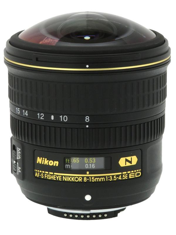 【Nikon】ニコン『AF-S Fisheye NIKKOR 8-15mm f/3.5-4.5E ED』FXフォーマット 魚眼ズーム デジタル一眼レフカメラ用レンズ 1週間保証【中古】b03e/h20A