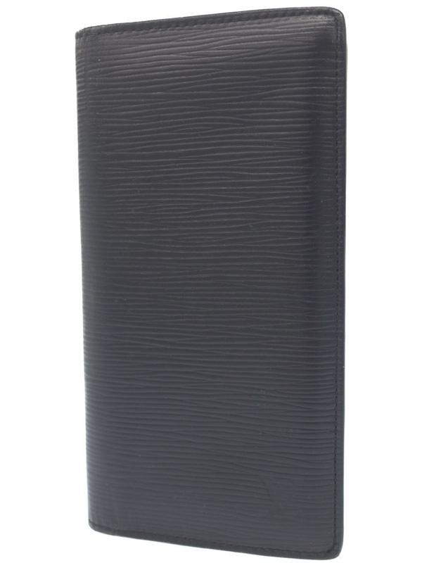 【LOUIS VUITTON】ルイヴィトン『エピ ポルトフォイユ ブラザ』M60622 メンズ 二つ折り長財布 1週間保証【中古】b02b/h09AB