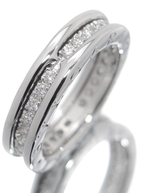 【BVLGARI】【フルダイヤ】【エタニティ】【メーカー仕上済】ブルガリ『K18WG B-zero1リング(ビーゼロワン) XSサイズ ダイヤモンド』8号 1週間保証【中古】b06j/h17SA