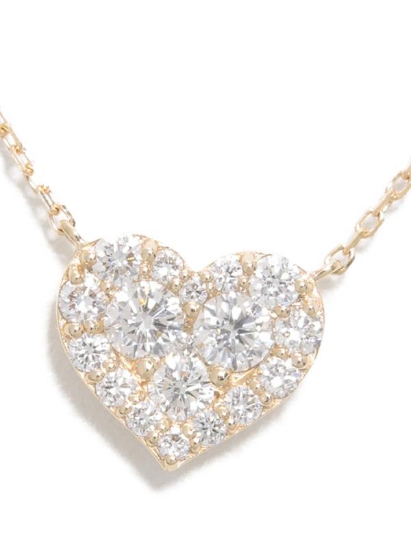 【Ponte Vecchio】ポンテヴェキオ『K18PGネックレス ダイヤモンド0.46ct ハートモチーフ』1週間保証【中古】b03j/h20A