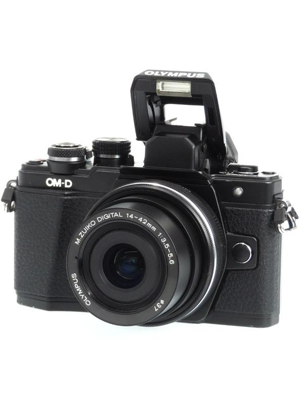 【OLYMPUS】オリンパス『OM-D E-M10 Mark II 14-42mm EZ レンズキット』ブラック 1605万画素 ミラーレス一眼カメラ 1週間保証【中古】b03e/h15B
