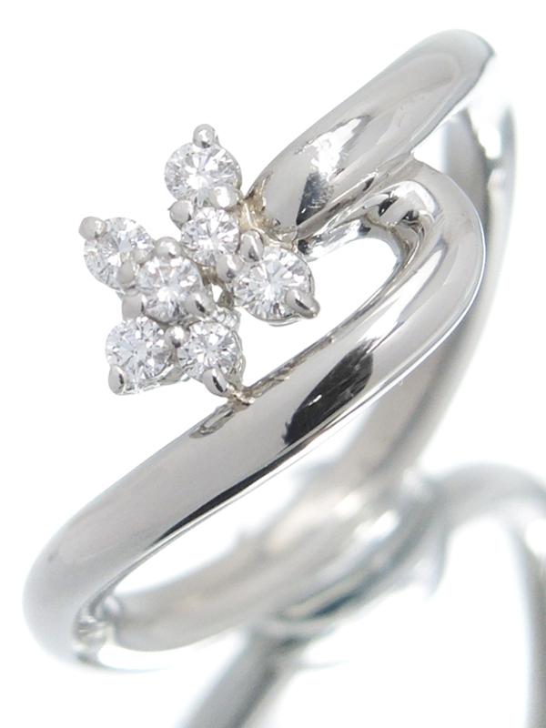 【星の砂】ホシノスナ『PT900リング ダイヤモンド0.13ct』11.5号 1週間保証【中古】b06j/h17A