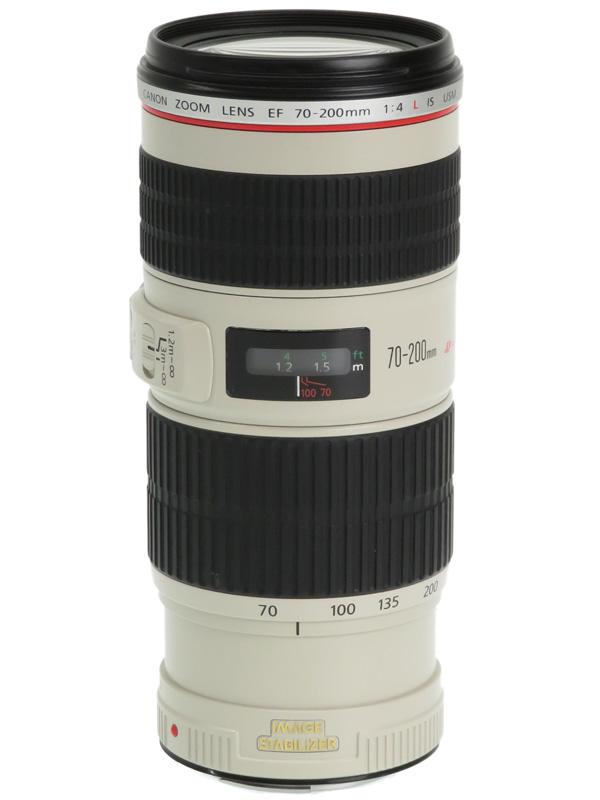 【Canon】キヤノン『EF70-200mm F4L IS USM』EF70-20040LIS 望遠ズーム 手ブレ補正 一眼レフカメラ用レンズ 1週間保証【中古】b05e/h22B