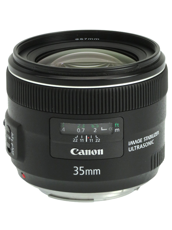 【Canon】キヤノン『EF35mm F2 IS USM』EF3520IS 非球面 広角単焦点 一眼レフカメラ用レンズ 1週間保証【中古】b05e/h22A