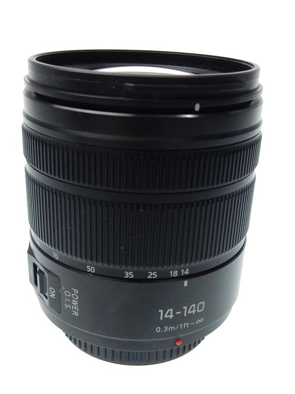 【Panasonic】パナソニック『LUMIX G VARIO 14-140mm F3.5-5.6 ASPH. POWER O.I.S.』H-FS14140-KA 28mm-280mm相当 ミラーレス一眼用レンズ 1週間保証【中古】b02e/h03AB