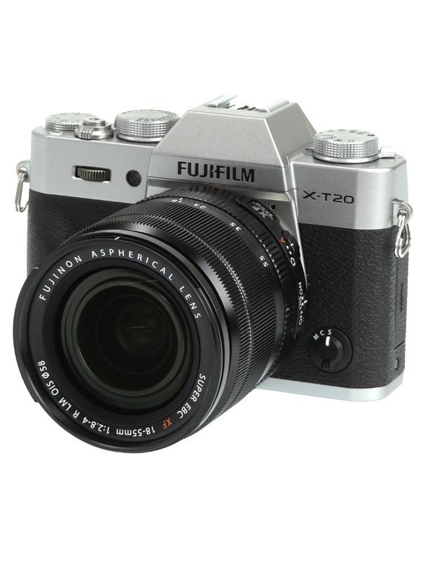 【FUJIFILM】富士フイルム『X-T20 ズームレンズキット』F X-T20LK-S シルバー 2430万画素 ミラーレス一眼カメラ 1週間保証【中古】b06e/h17AB