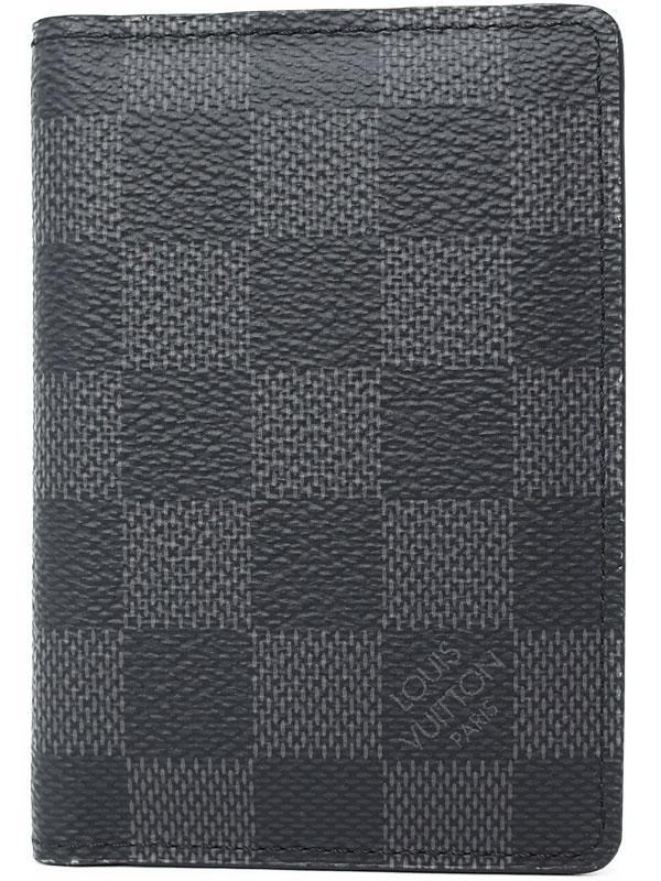 【LOUIS VUITTON】ルイヴィトン『ダミエ グラフィット オーガナイザー ドゥ ポッシュ』N63143 メンズ カードケース 1週間保証【中古】b05b/h10A