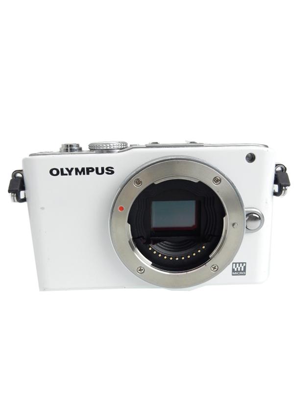 【OLYMPUS】オリンパス『OLYMPUS PEN Lite E-PL3 ダブルズームキット ホワイト』1230万画素 SDXC ミラーレス一眼カメラ 1週間保証【中古】b02e/h09B