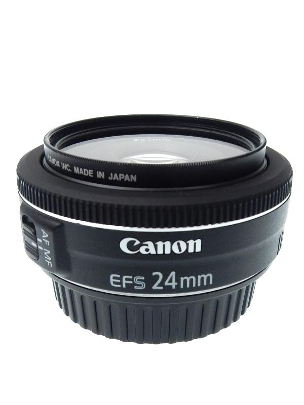 【Canon】キヤノン『EF-S24mm F2.8 STM』EF-S2428STM 38mm相当 デジタル一眼レフカメラ用レンズ 1週間保証【中古】b03e/h11AB