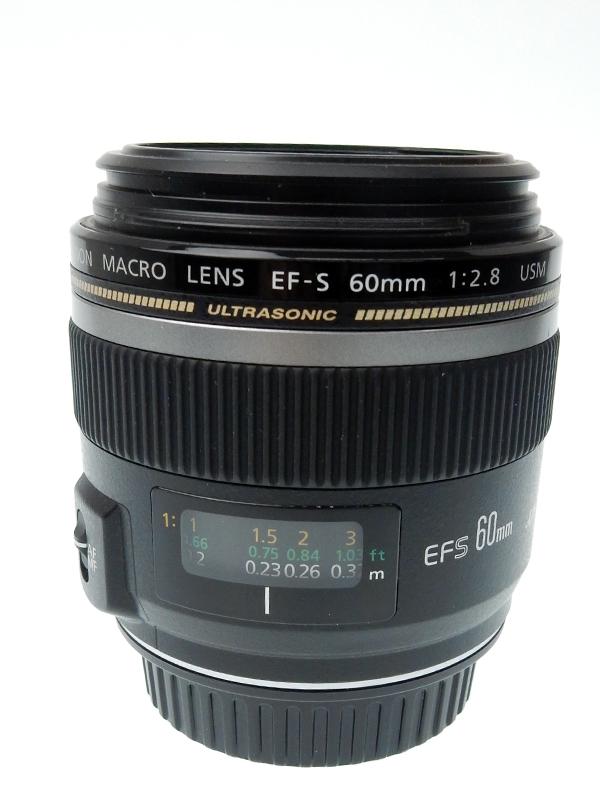 【Canon】キヤノン『EF-S60mm F2.8マクロUSM』EF-S6028MU 96mm相当 等倍 デジタル一眼レフカメラ用レンズ 1週間保証【中古】b03e/h20AB