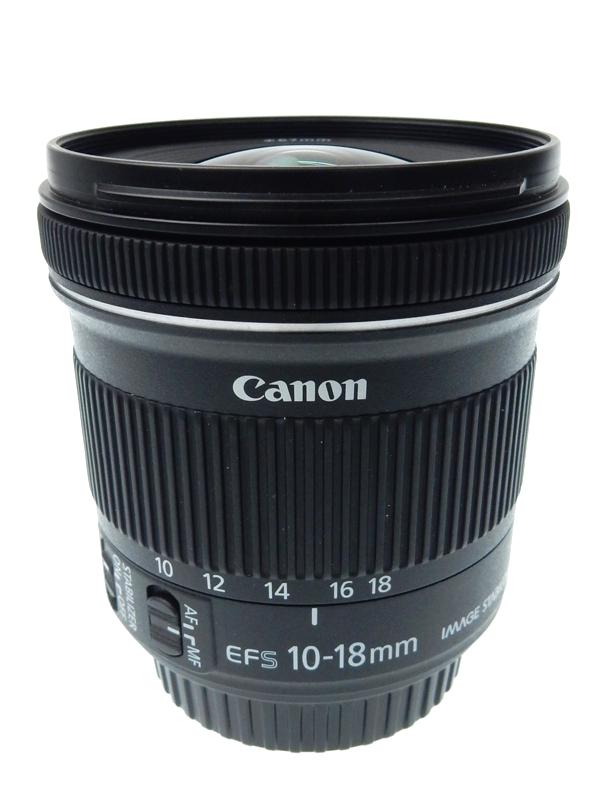 【Canon】キヤノン『EF-S10-18mm F4.5-5.6 IS STM』EF-S10-18ISSTM 16-29mm相当 デジタル一眼レフカメラ用レンズ 1週間保証【中古】b03e/h20AB