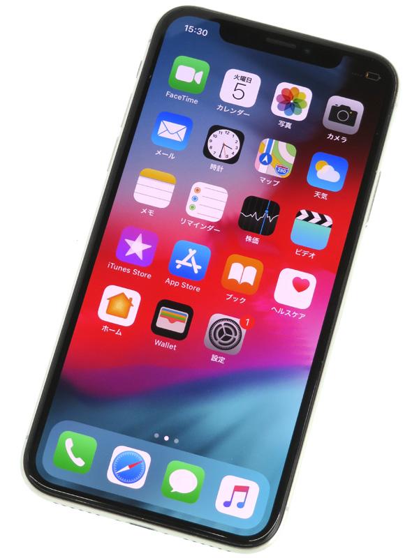 【Apple】【SoftBankのみ】アップル『iPhone X(テン) 256GB』MQC22J/A シルバー iOS12.1.3 5.8型 白ロム ○判定 スマートフォン 1週間保証【中古】b06e/h11AB