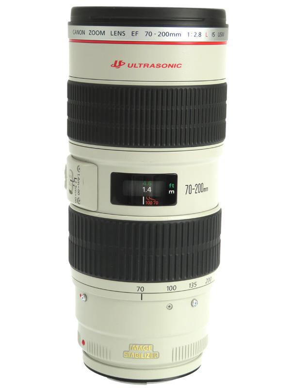 【Canon】キヤノン『EF70-200mm F2.8L IS USM』EF70-200LIS 望遠ズーム 手ブレ補正 一眼レフカメラ用レンズ 1週間保証【中古】b06e/h17AB